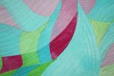 Rhythm #1-Detail1, Textile Art by Clara Nartey