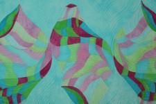 Rhythm #2-Fiber Art by Clara Nartey