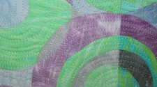 Detail View of Shuffle-Abstract art by Clara Nartey