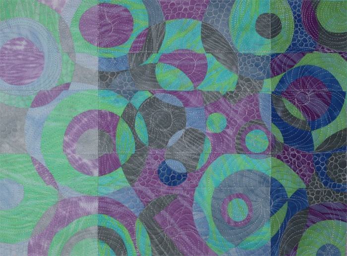 Shuffle- Abstract in Textiles by Clara Nartey