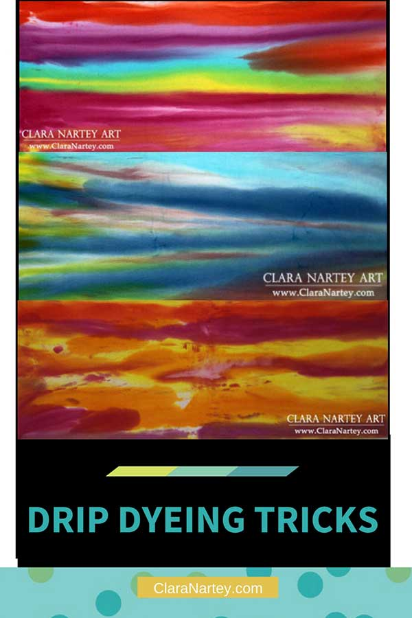 Drip dyeing tricks & painting fabrics