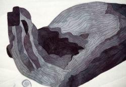 splash- textile art by clara nartey