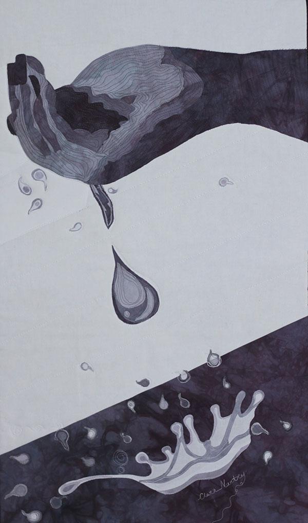 splash textile art by clara nartey