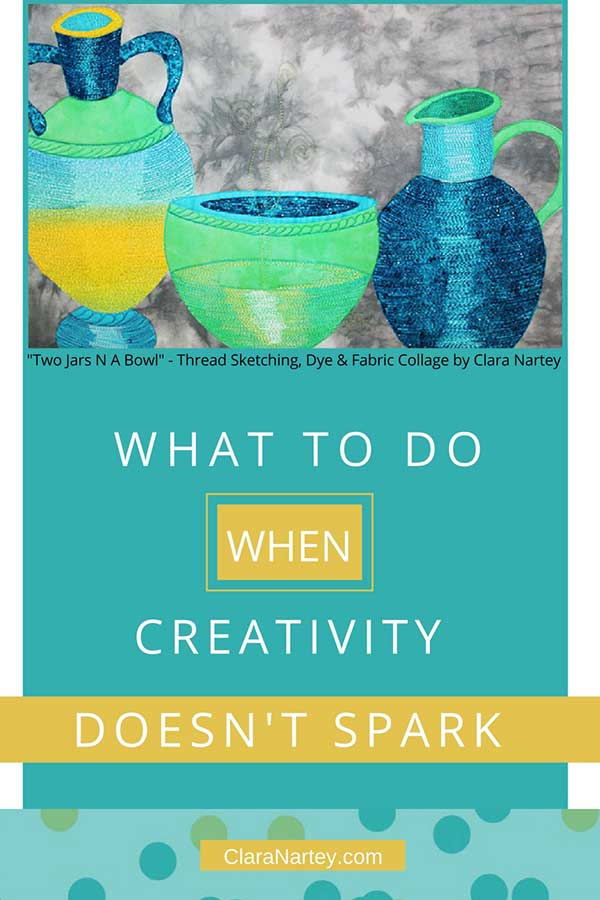 Don't wait for creativity. What to do when creativity doesn't spark