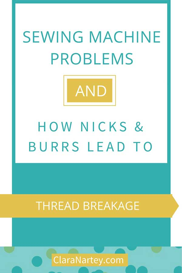 The cause of thread breakage in sewing machine problems