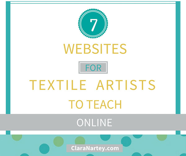 7 top websites to teach textile art online clara nartey for Top websites for artists