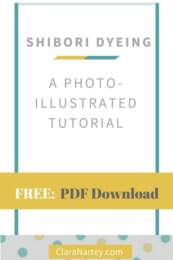 Get a free shibori dyeing tutorial download and start dyeing your own fabrics in this way