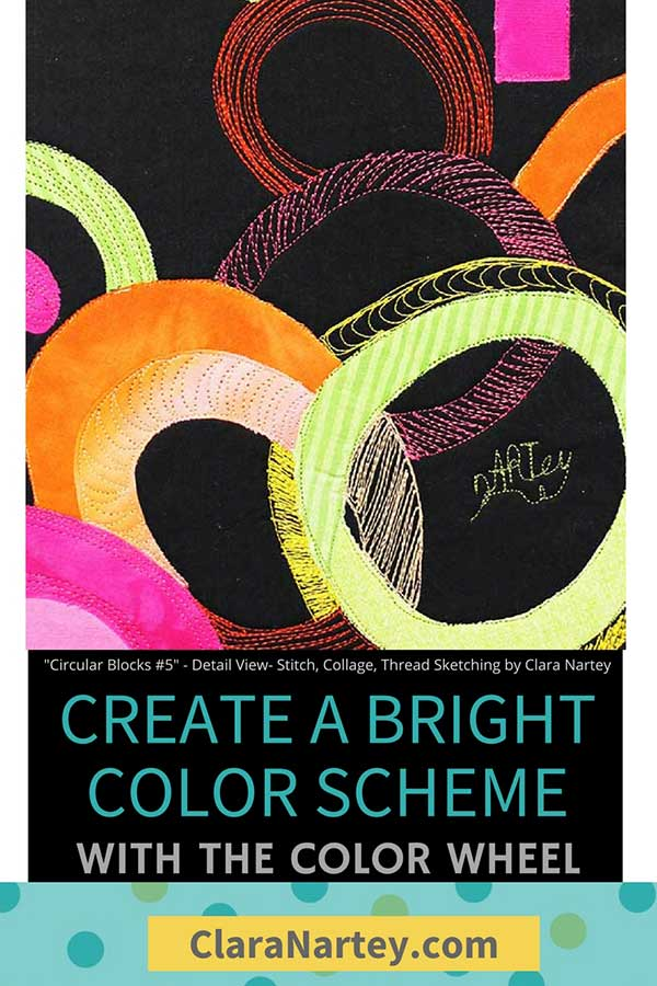 Create bright color schemes with the color wheel