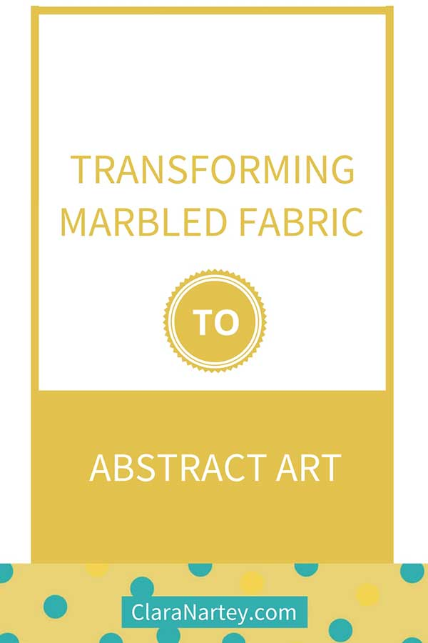 Transforming marbled fabric to abstract art using thread sketching
