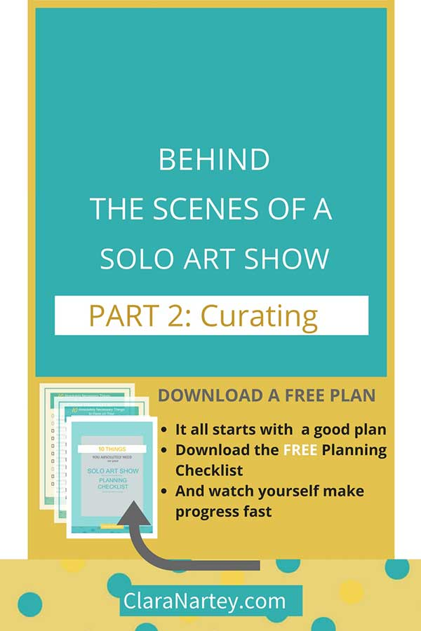 Discover tips for curating art work to make your solo show successful