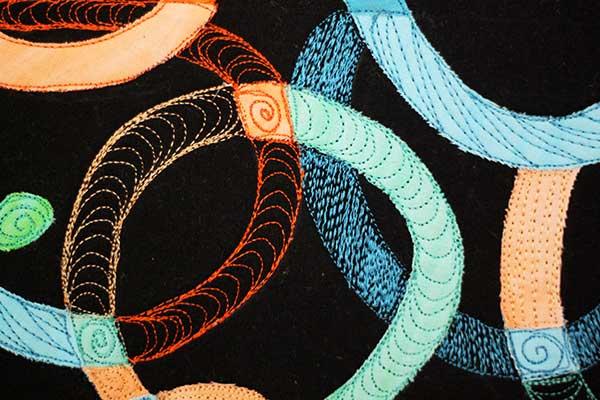 transparencies in fiber art