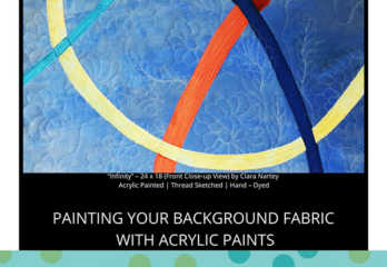 Acrylic Painted | Thread Sketched | Hand – Dyed