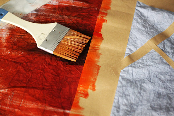 Making Connections   Dry Brush Painting with Dye   Orange Fabric Dye