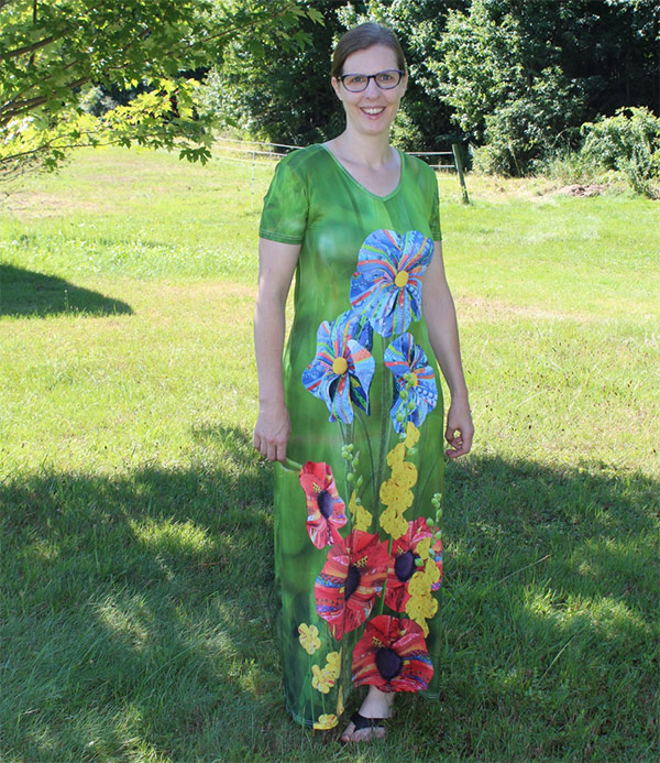 Dawn Allen's art prints dress
