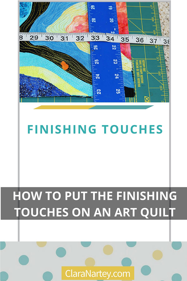 Art quilt Label | Art Quilt Facing| Quilt Hanging Sleeve | Finishing Touches