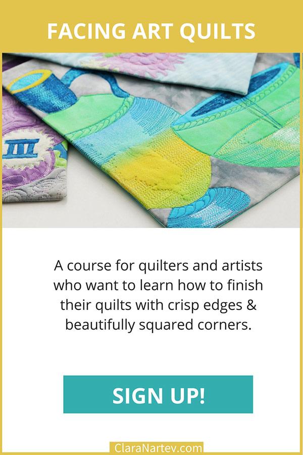 Facing Art Quilts | Art Quilt Finishes | Quilt Binding | Faced Binding
