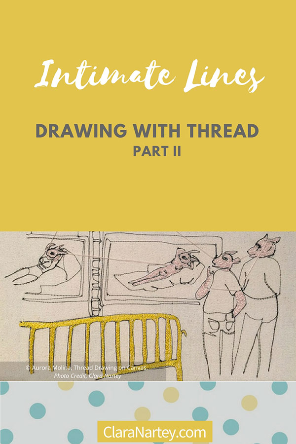 Thread art at Hunterdon Art Museum | Drawing with Thread | Thread Artists