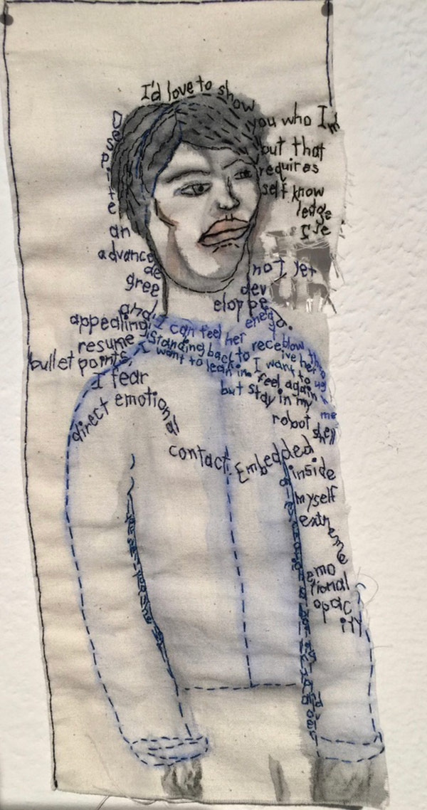 Thread art at Hunterdon Art Museum | Drawing with Thread | Thread Artists |Iviva Olenick