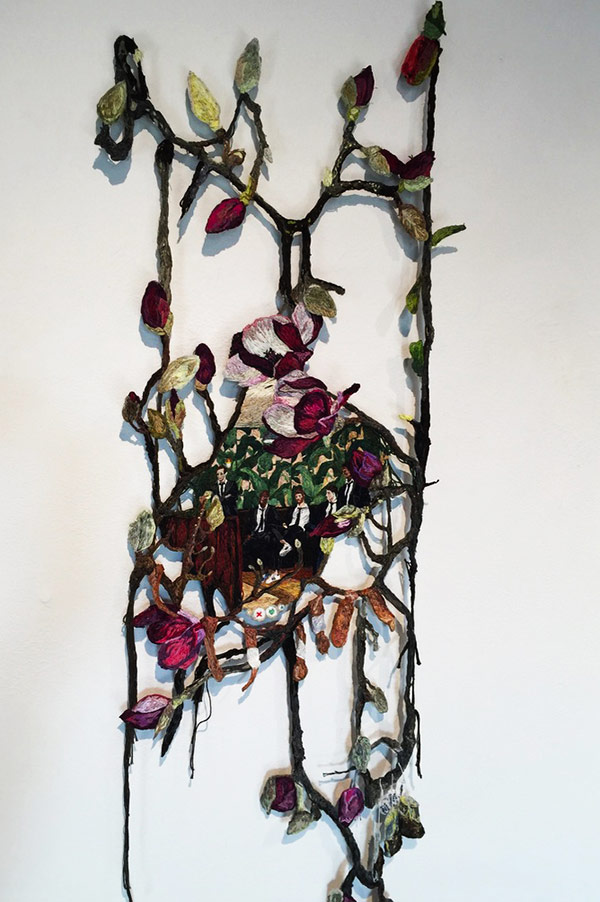 Thread art at Hunterdon Art Museum | Drawing with Thread | Thread Artists Sophia Narrett