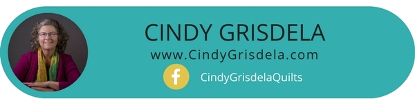 Why Cindy Grisdela use textiles to create