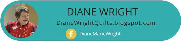 Why Diane Wright use textile to create art