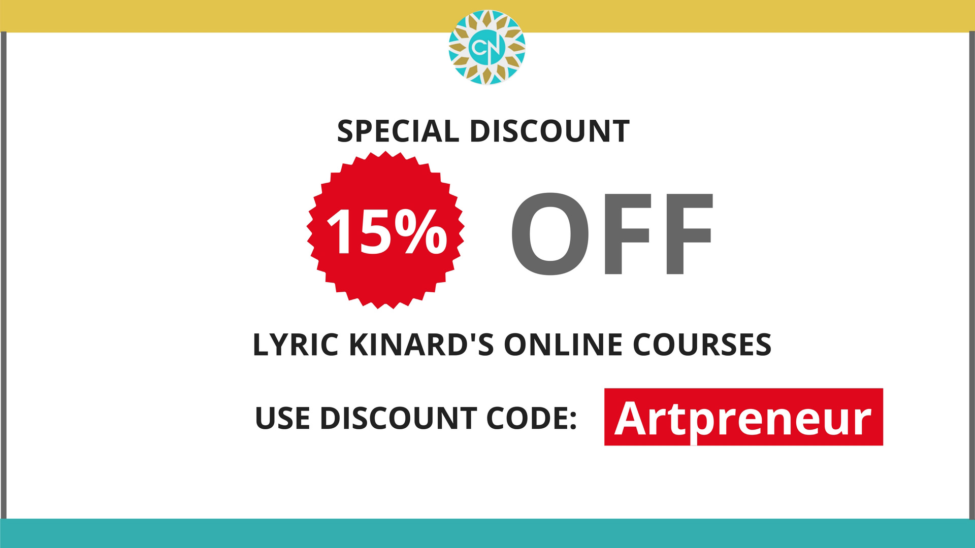 Lyric Kinard's Discount on her Online Courses