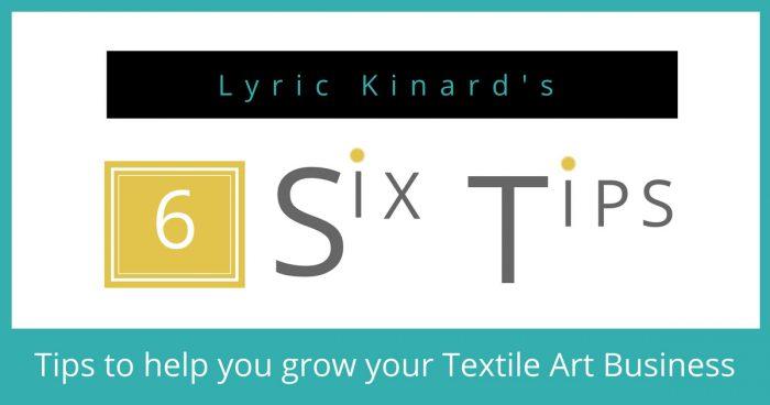 Lyric Kinard Tips on Teaching Textile Art Online