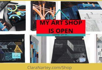 Contemporary Textile Art Shop | Buy Textile Art | Collect Clara Nartey | Textile Art Collector | Art Quilt Collector | Textile Art for Sale