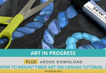 Mount fabric art on canvas  Lovecicles   fiber art   fabric collage   fibre art   textile art   art textiles   art quilt on canvas