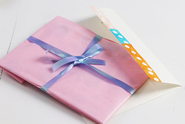 Fabric embellished greeting card | Fabric Stationery