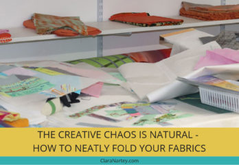 Easily fold Your Fabrics | Organize Your studio Space