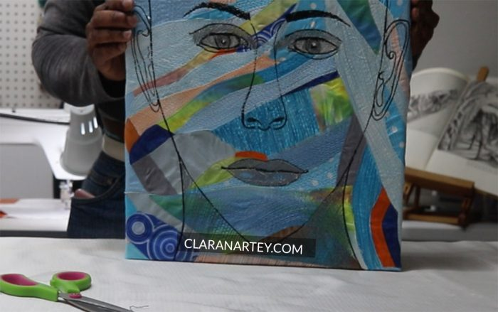gallery wrapped fiber art on canvas | Gallery wrapped textile art on frames