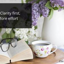 Clarity Before Effort