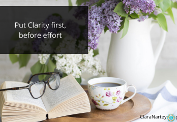 clarity before effort | online course