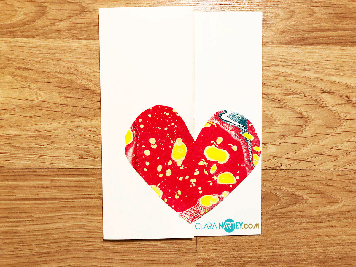 Valentine Fabric Card | Fabric Collage | Textile Art |