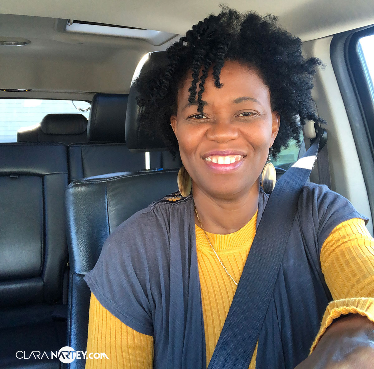 Clara Nartey on the her way to Hang out with Bisa Butler