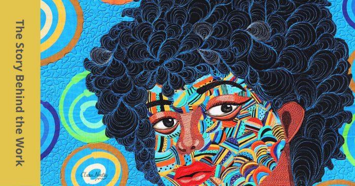 Coils and Shells, |fiber art by Clara Nartey | Textile Art | Mixed Media |#Freemotionquilting #fmq #artquilt #textileart