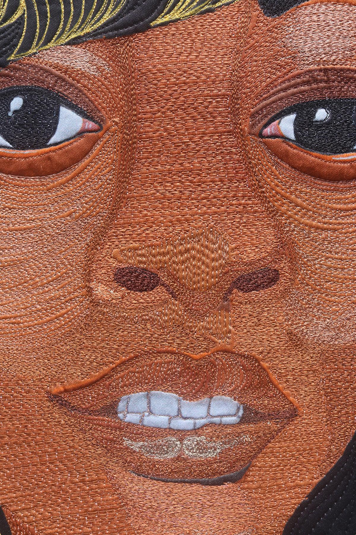 Charleena Lyles | Fiber Art | Thread Painting | Textile Art | Art Quilt | #CharleenaLyles