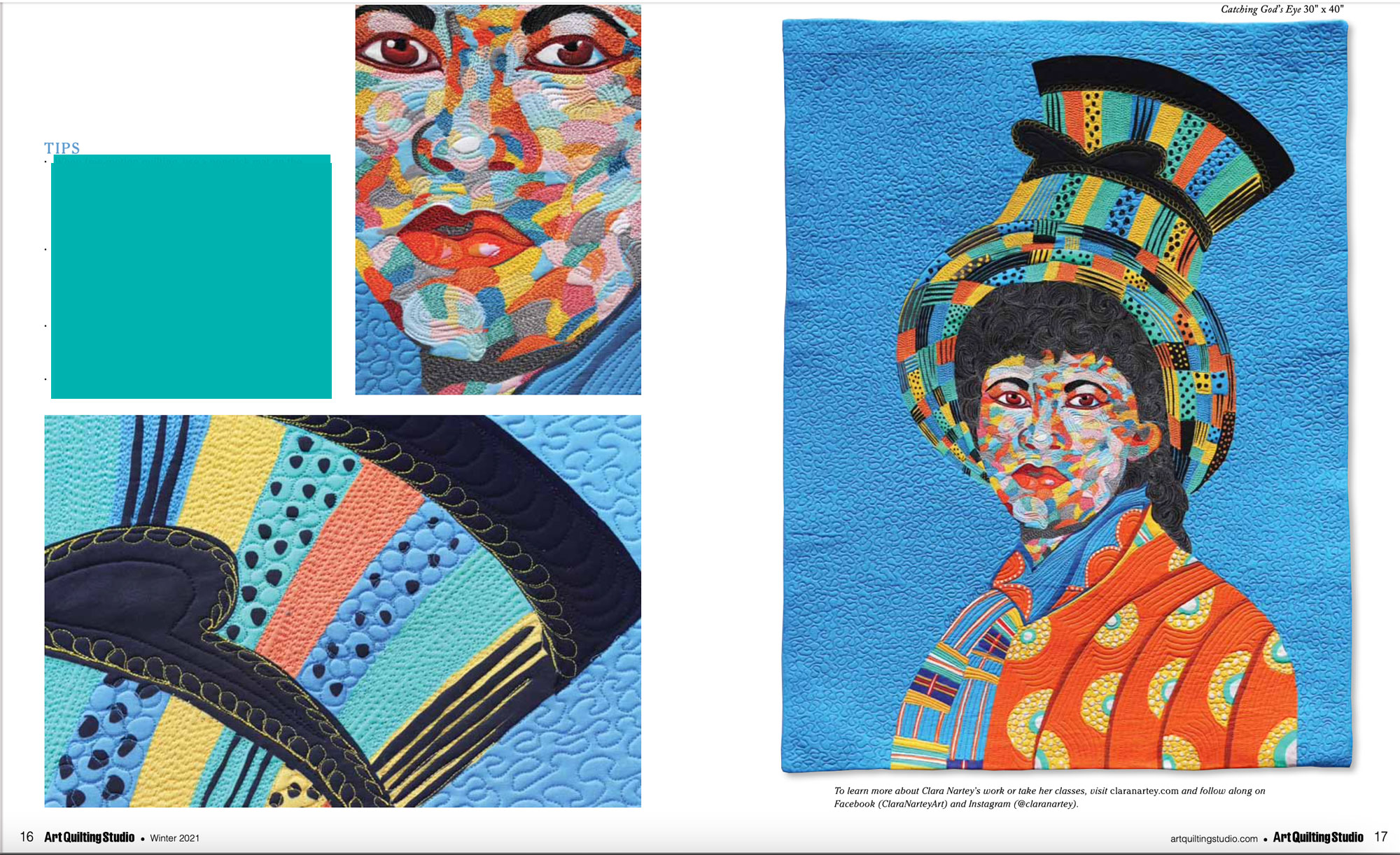 Art Quilting Studio magazine feature plus how to get published